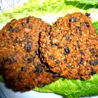 Chipotle Organic Black Bean, Yam, and Quinoa Burger (Vegan, Gluten free, Soy free, Nut free, Corn free)