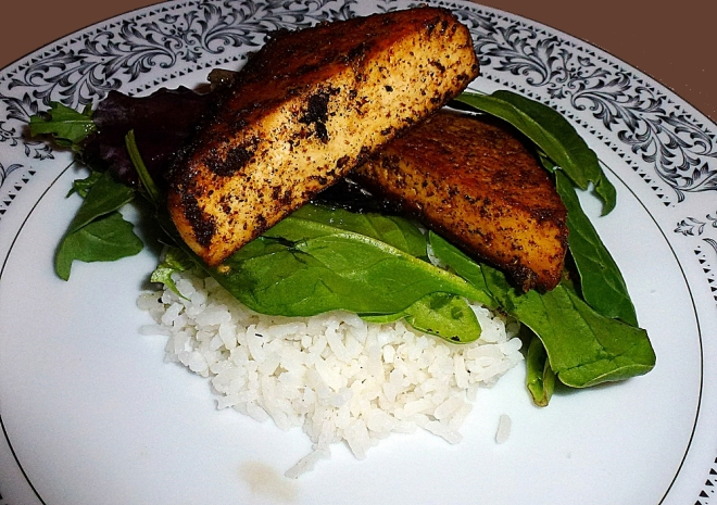 blackened tofu meal