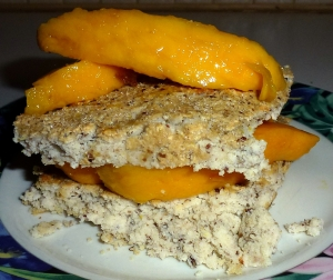 plated coconut pancake