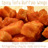 Spicy Tofu Buffalo Wings with Veganized Blue Cheese Dressing