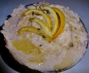 zesty lemon rosemary white bean dip