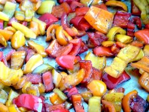 balsamic glazed peppers