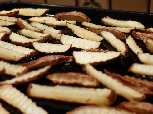 crinkle cut oven fries