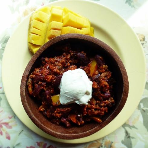 spicy chorizo chili