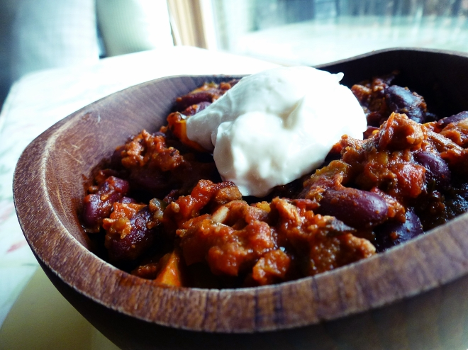 Spicy chorizo chili