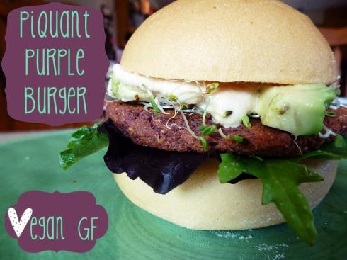 Piquate Purple Burger