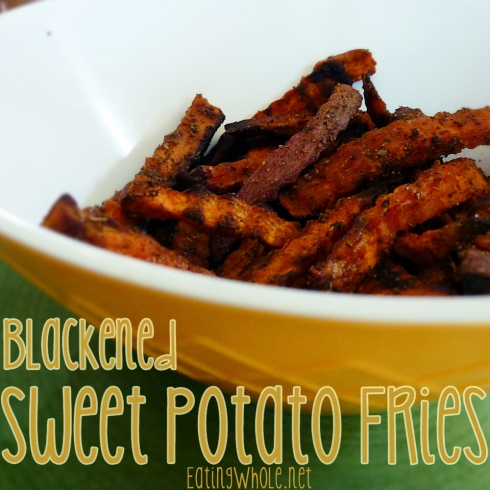 Blackened sweet potato fries