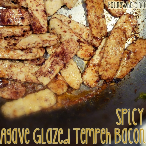 Spicy agave glazed tempeh