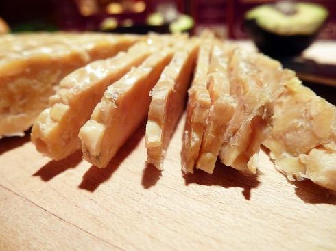 sliced tempeh