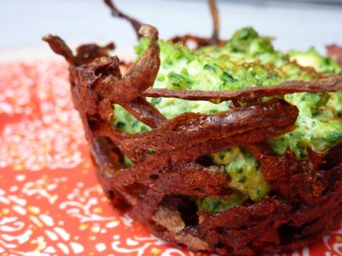 spinach quiche nest