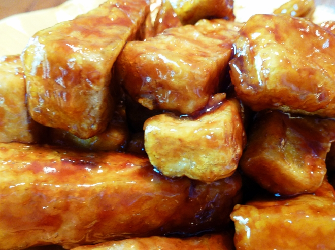 spicy asian tofu wings