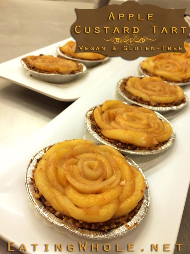 apple custard tart pecan crust title