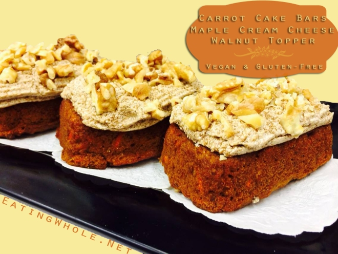 carrot cake bars maple walnut frosting title
