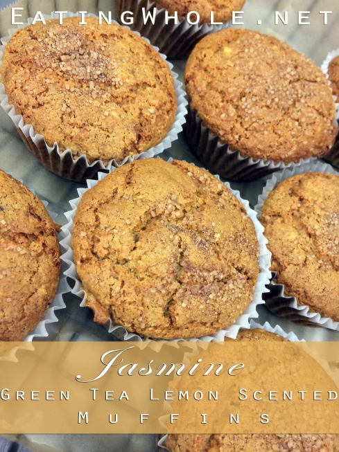 jasmine green tea lemon scented muffins title
