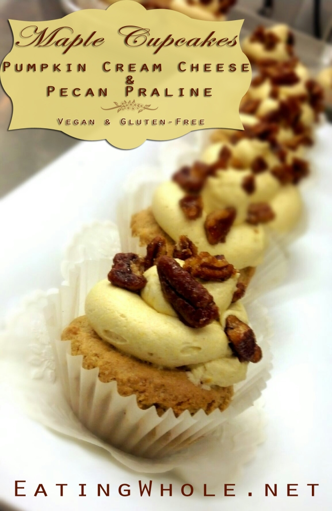 Maple cupcake pumpkin buttercream pecan praline title
