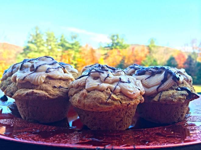 pumpkin spice muffins spiced buttercream