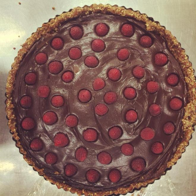 raw chocolate tart pecan crust