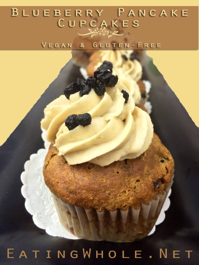 blueberry pancake cupcake title