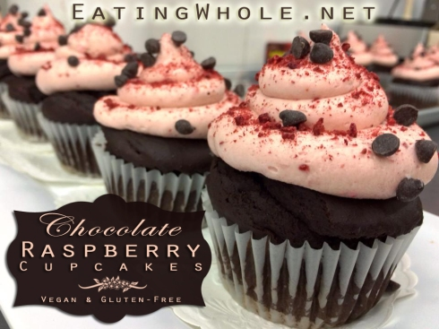 choc cupcake raspberry buttercream title