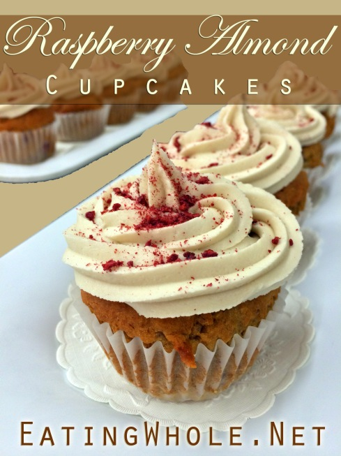 raspberry almond cupcakes 1 title