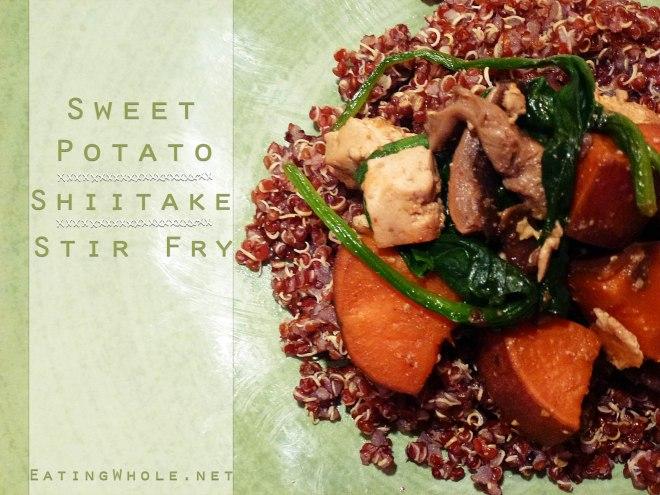 sweet potato shitake stir fry title