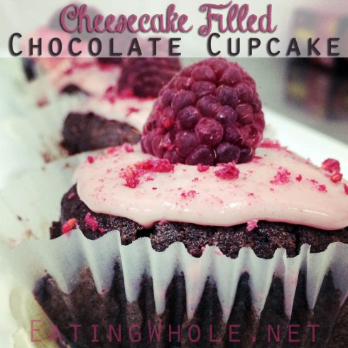 Chocolate Raspberry Cheesecake Cupcakess title