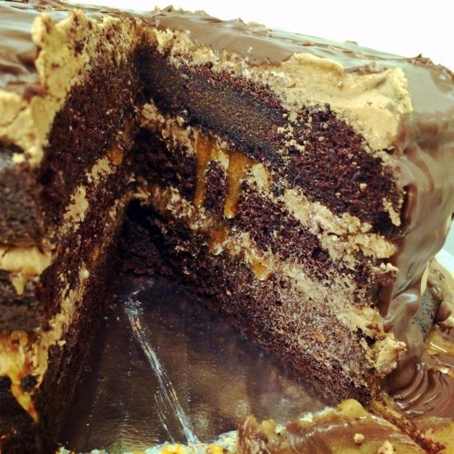 Chocolate salted caramel ckes