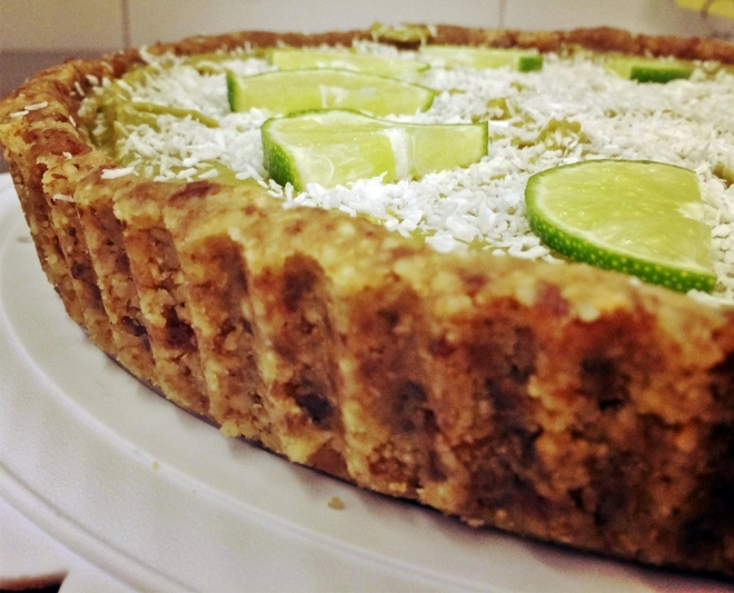 raw key lime tart large s