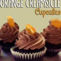 Chocolate Orange Creamsicle Cupcakes