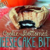 Cookie-Bottomed Cheesecake Bites: No bake!